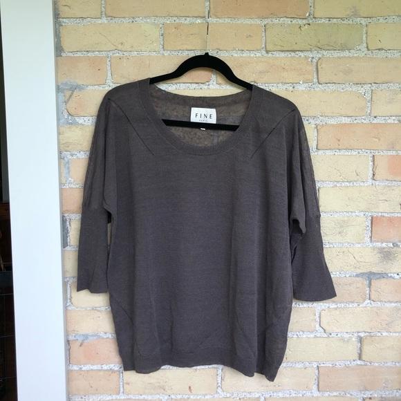 FINE PARIS Brown Sweater